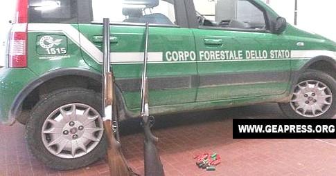 forestale armi caccia